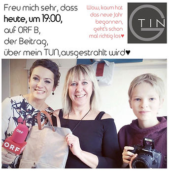 Tin-G, wandelbare Tasche, vegane Tasche, Tasche, wandelbar, Martina Fülöp-Unger, ORF, ORF Burgenland, Fernsehbeitrag, ORF-B,  individuelle Tasche, Taschendesign