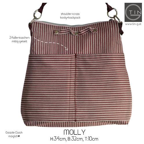 MOLLY-vino tinto+Streifen