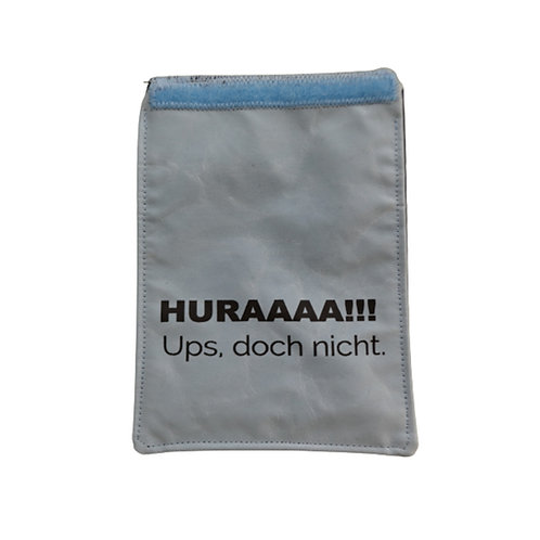 Handylasche blau+hellblau+Huraa!