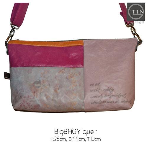 BigBAGYquer-Fotoarbeit+rosa.../grau mit Gurt