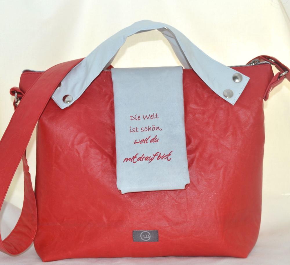 Tasche, Bagy, rot, weiß, Die welt ist schön, Veränderung