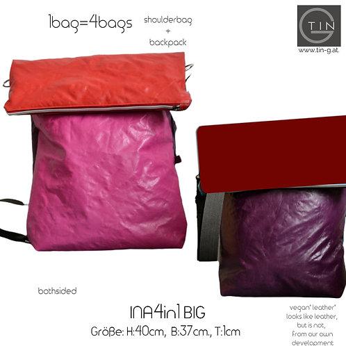 INA4in1 Big-magenta+rot/lila+weinrot