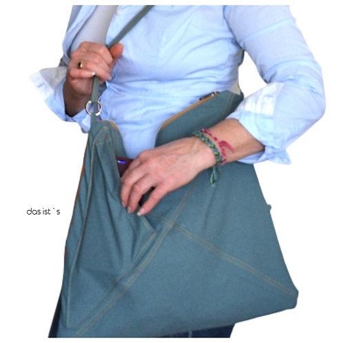HOBO Backpack mit Gurt-2nd life-Hose petrol