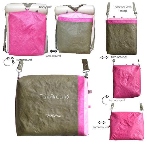 TurnAround-oliv+magenta+pink