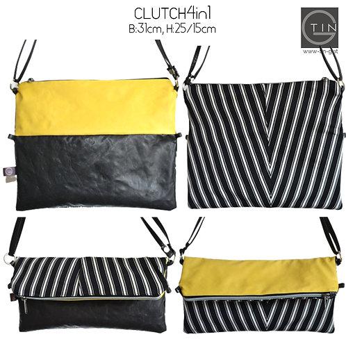 Clutch 4in1 incl. Gurt-2nd life-Hose gestreift