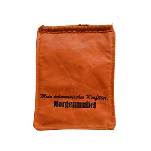 Handylasche orange+melange+Morgenmuffel