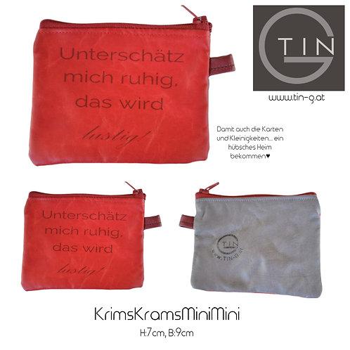 KRIMSKRAMS MiniMini-rot+grau+unterschätz