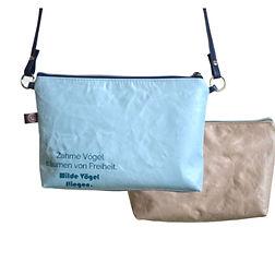 TINI, hellblau, Tin-G, Design, Taschendesign, Designertasche, Clutch, selbstgestalten, create your own, wandelbar, veganes Leder, vegan leather