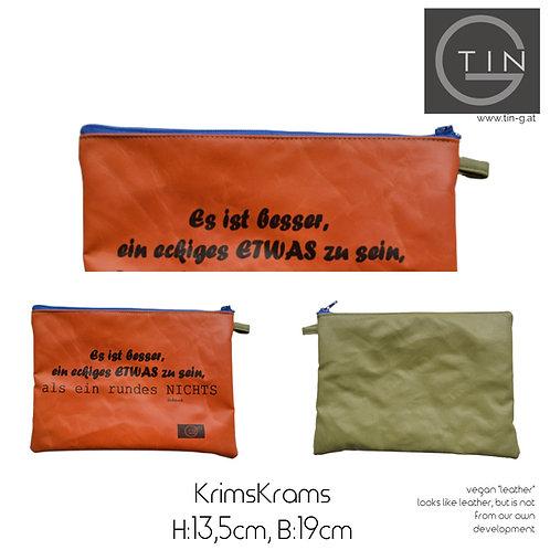 KRIMSKRAMS-orange+oliv+eckiges Etwas