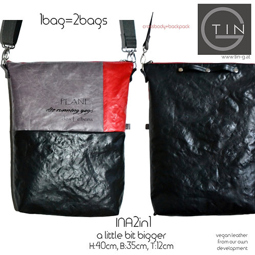 INA2in1-Big schwarz+grau+rot