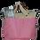 Thumbnail: BAGY - beige+schwarz+pink+Außentasche