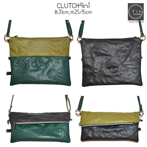 CLUTCH4in1-anthrazit/waldgrün+greenery