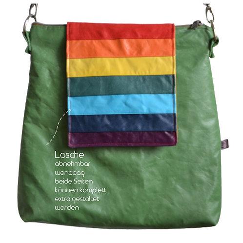 Lasche groß-MOLLY-Regenbogen-create your own