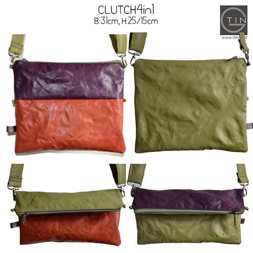 CLUTCH4in1-greenery/lila+rost