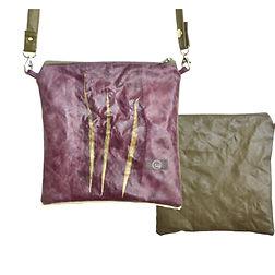 Quadrat22, lila, oliv, Tin-G, Design, Taschendesign, Designertasche, Clutch, selbstgestalten, create your own, wandelbar, veganes Leder, vegan leather