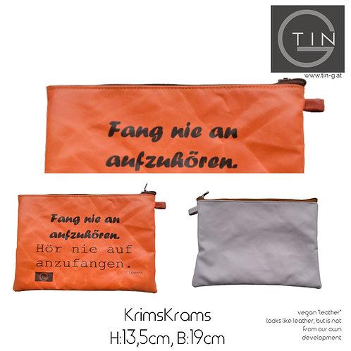 KRIMSKRAMS-orange+greige+hör nie auf