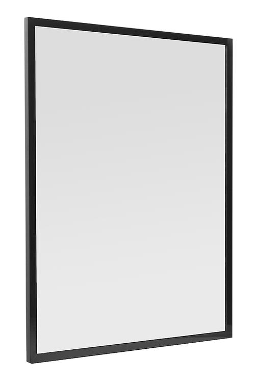 Mirror Aluminum Frame 60x80 Black