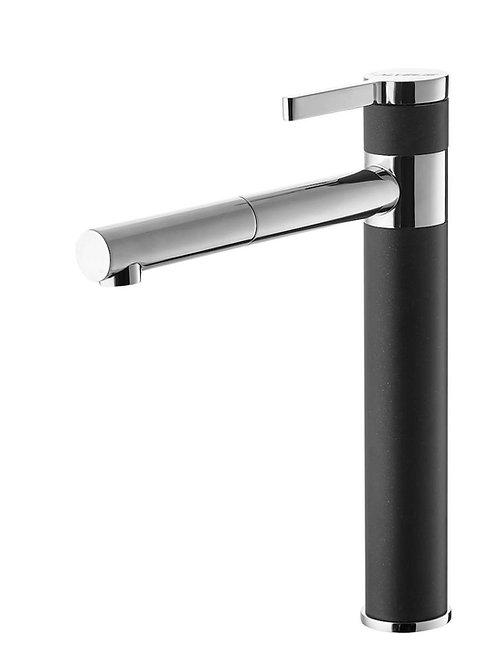 Sink mixer Alveus Zina with swivel arm black