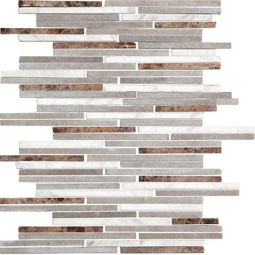 Stone Gray Mosaic 25x30 Matt Tile