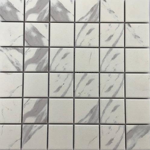 Off White Marble Colour Matt Mosaic 12X12 porcelain