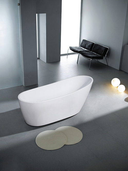 "Bathtub Karyn White 174x77x70 (68.5""x30""x27.5"") Acrylic"