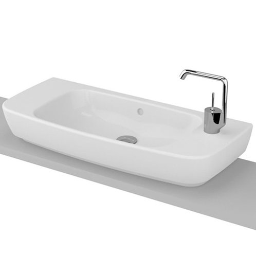Elongated White Vessel Sink