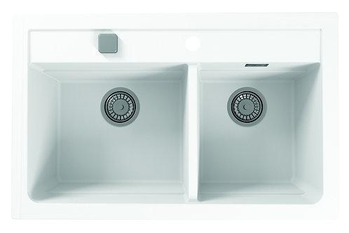 """Granite Double Sink Alveus ATROX 19.5""""x31"""""""