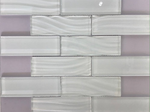 White Frosted Glass Mosaic 14.75X11.5/8