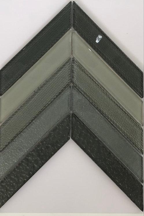 Grey Multi Glass Mosaic 13.5X9.5