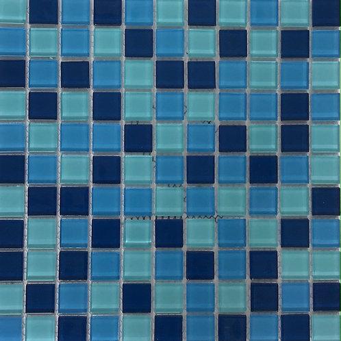 Blue/Pale Green Mosaic11.75X11.75