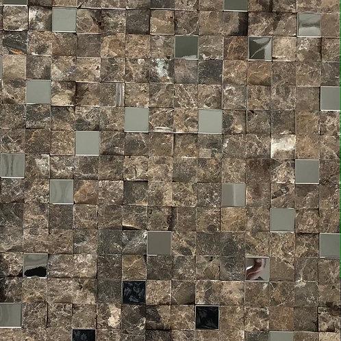 Stone Mirrored Mosaic 11.75X11.75