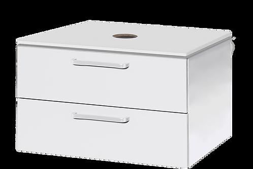 Under Sink Bathroom Cabinet White 84x45