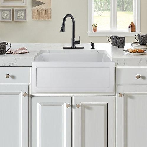 Odie 24'' L x 18'' W Farmhouse Kitchen Sink with Basket Strainer