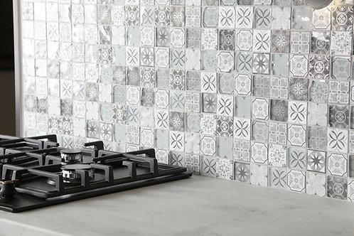 Glass Mosaic 30x30 B&W Matt/Gloss Tile