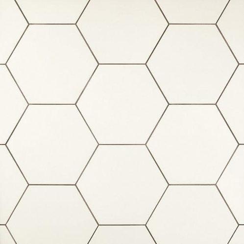 FD AdessiOpal White Hexagon Porcelain Tile 11x13