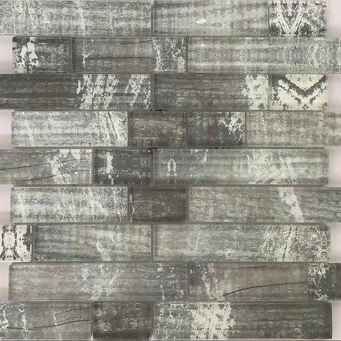 Grey Retro Glass Mosaic 13X11.25
