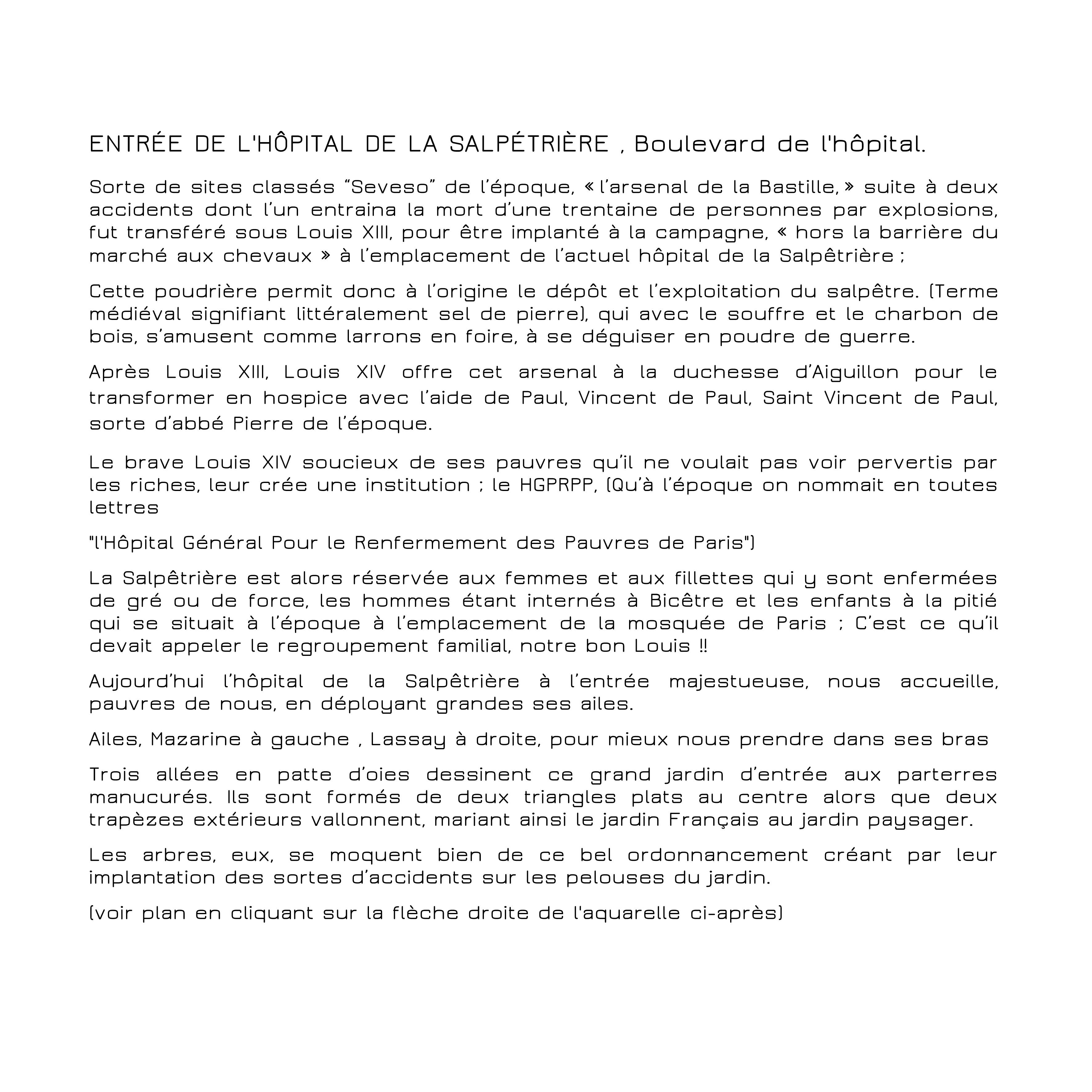 ENTREE DE LA SALPETRIÈRE