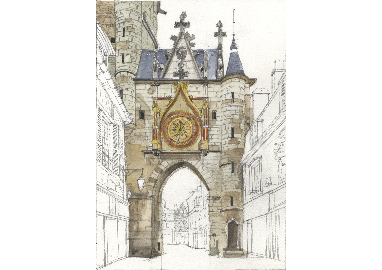 BOURGOGNE - YONNE - Auxerre porte de l'horloge.jpg
