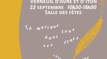 SALON DU LIVRE: VERNEUIL SUR AVRE Salle des Fêtes Rond-point de la Victoire dimanche 23 septembre de