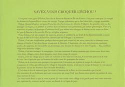 SAVEZ-VOUS CROQUER L'ÉCHOU