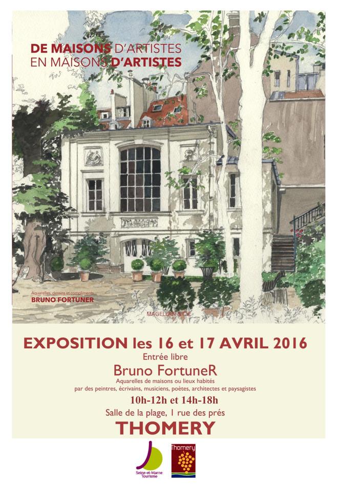 EXPOSITION D'AQUARELLES AVRIL 2016
