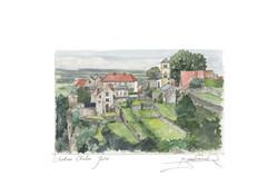 FRANCHE COMTE - JURA - chateau Chalon aquarelle.jpg