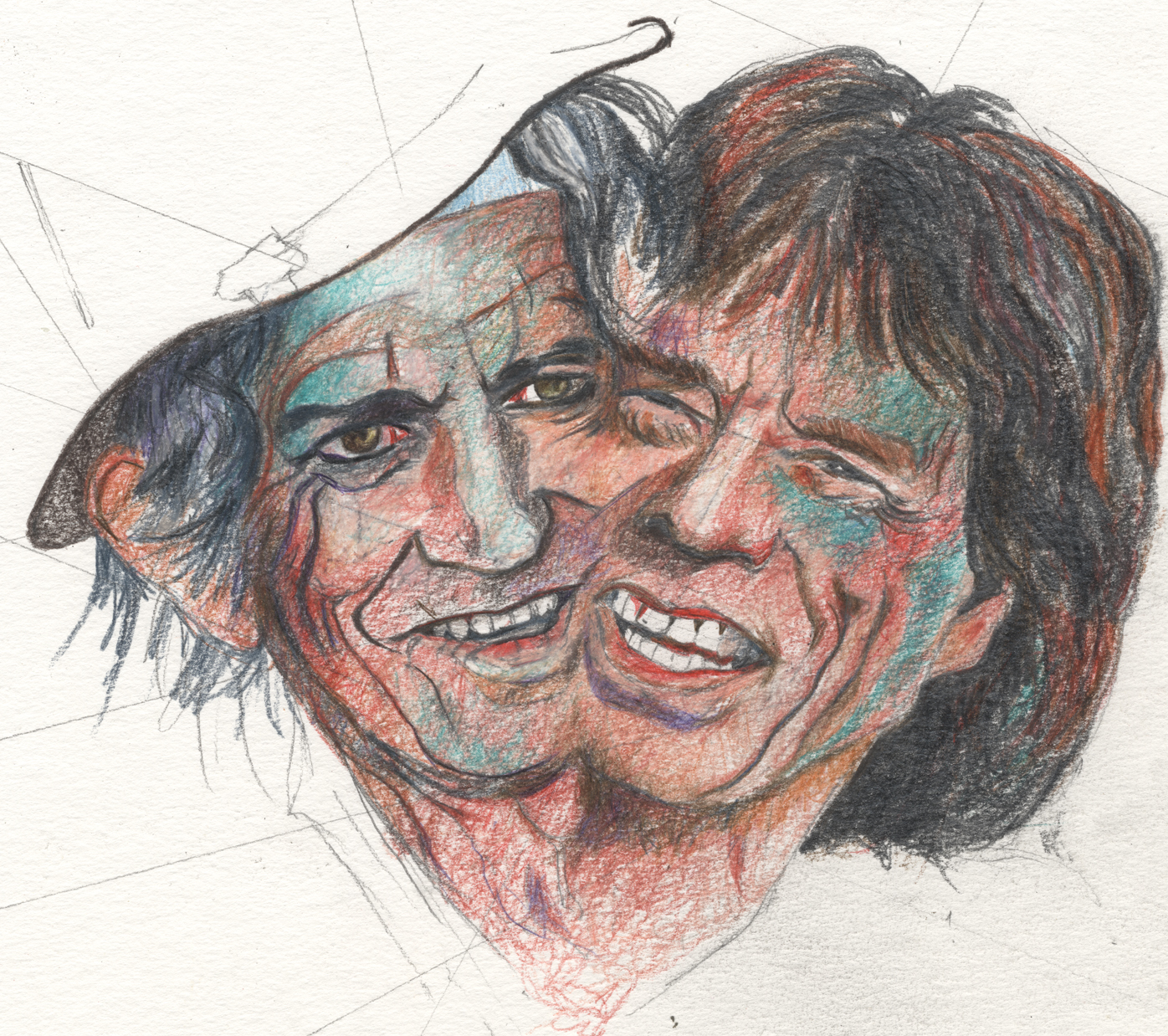 Mick Jagger et Keith Richardsportraits 150