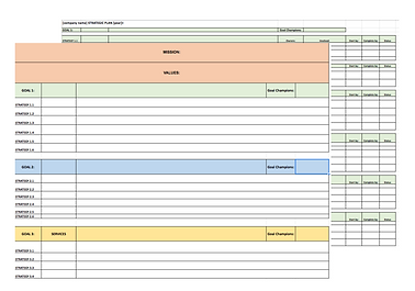 SmallDotBig Strategic Planning Template.
