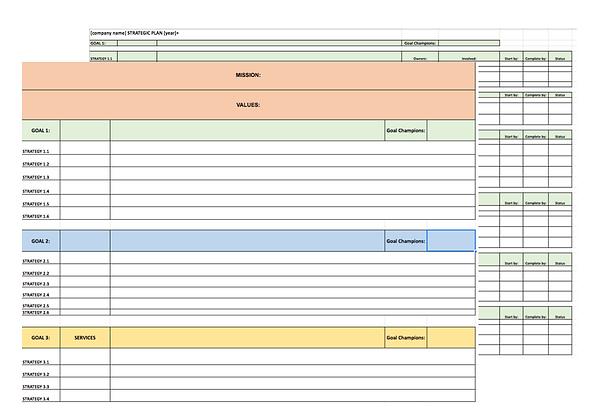 SmallDotBig Strategic Planning Template.