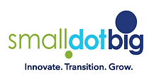 SmallDotBig logo. Innovate, Transition, Grow