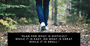 Take small steps on a big journey