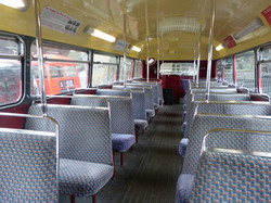 Inside a routemaster Bus RM