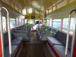 Inside Routemaster RML Wedding