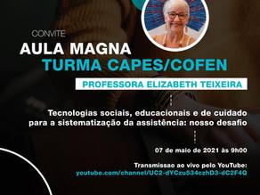 Convite para Aula Magna - Turma CAPES/COFEN